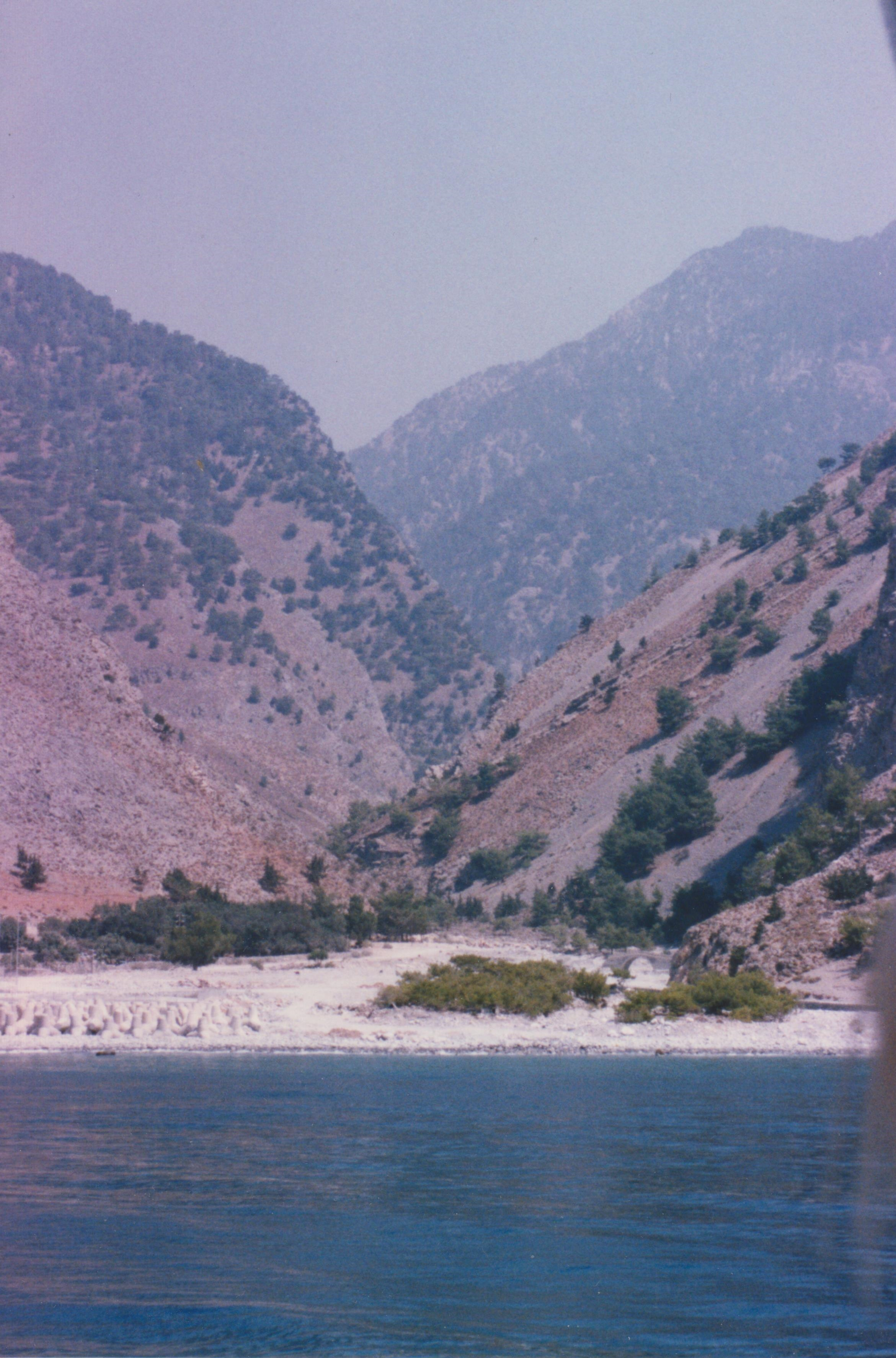 A picture of the gorge from the sea