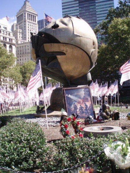 The 9/11 memorial in the pak