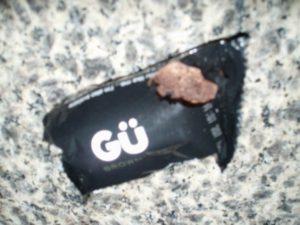 Chewed Gu brownie