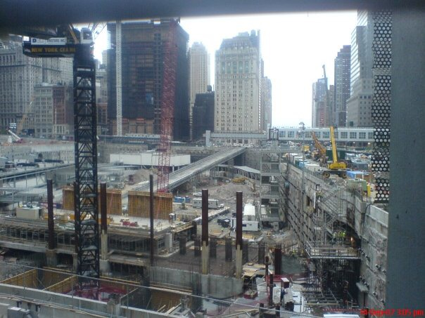 The construction sight at ground zero.