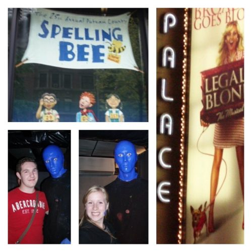 A collection of pictures from Broadway shows