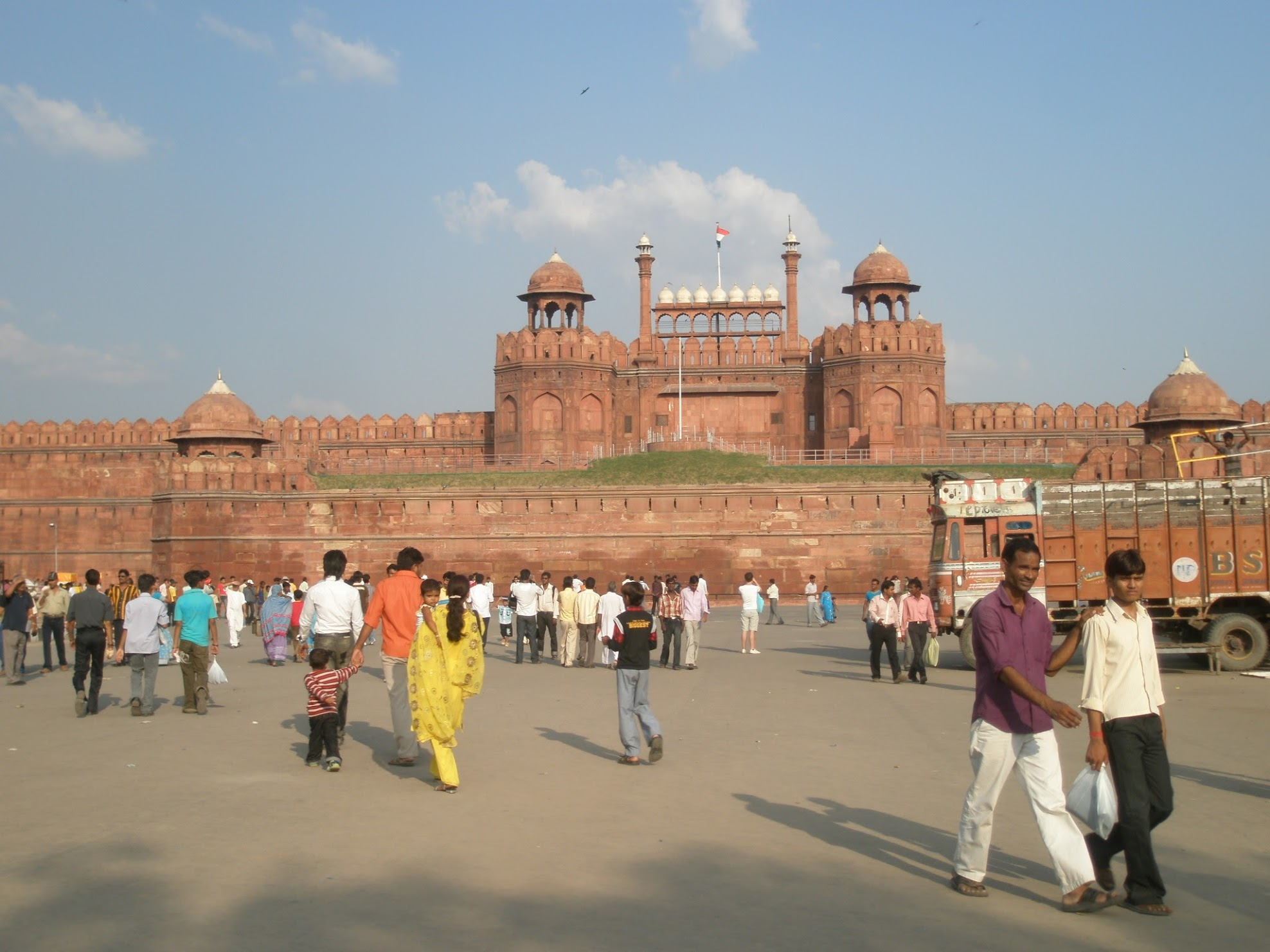 The Red Fort from the front.