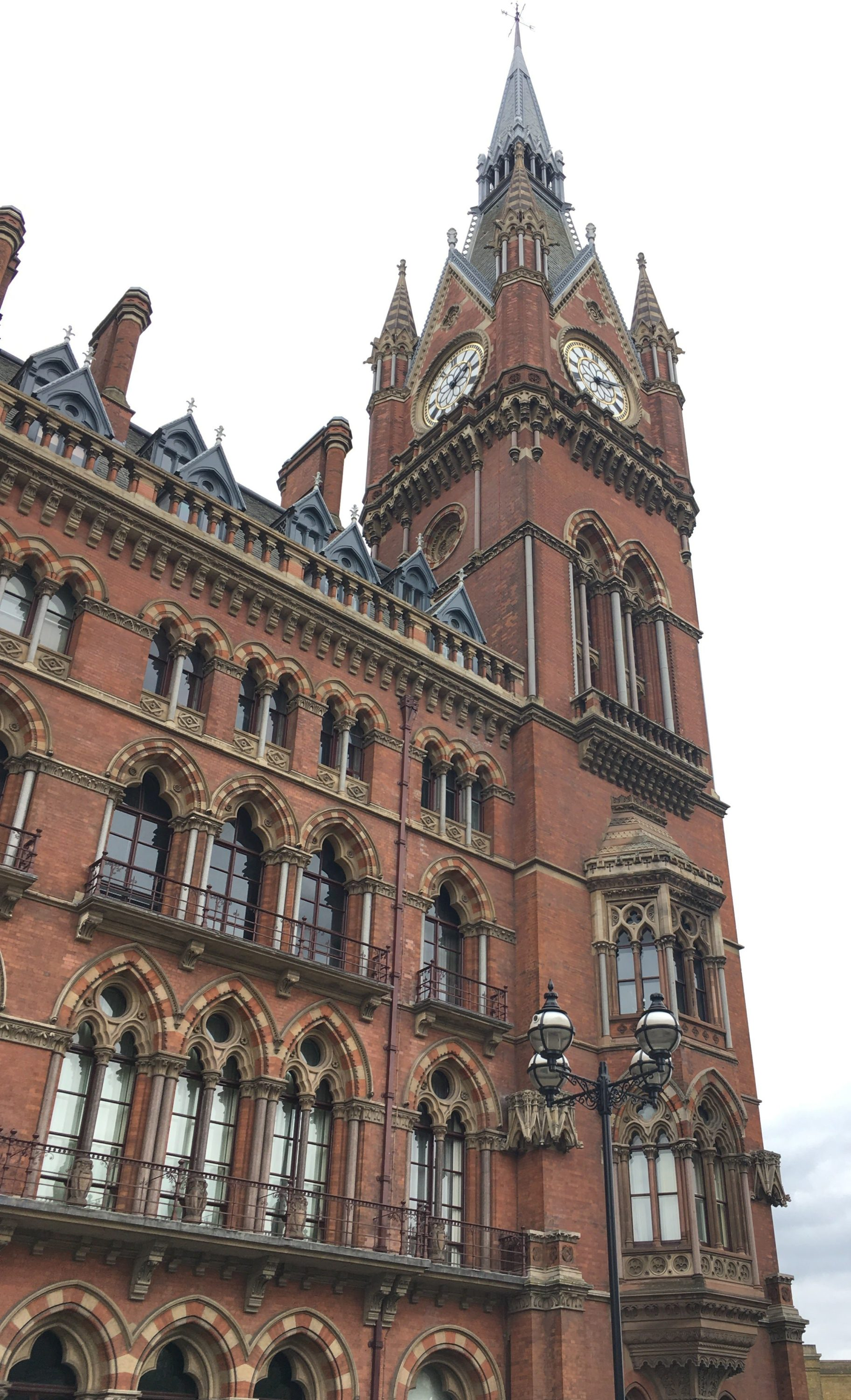 The Chambers and clocktower on the front of the station, lovely Victorian architecture.