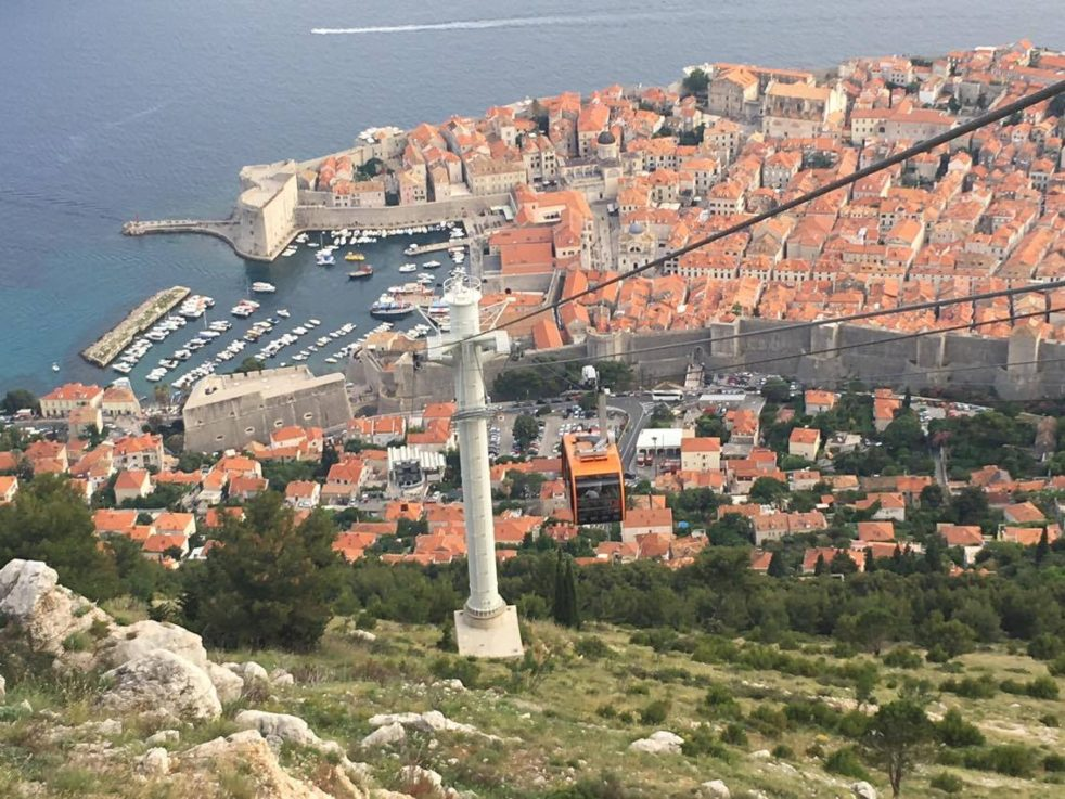 A view of the Croatian city of Dubrovnik from the cable car